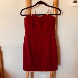 Alythea sweetheart neckline red mini dress